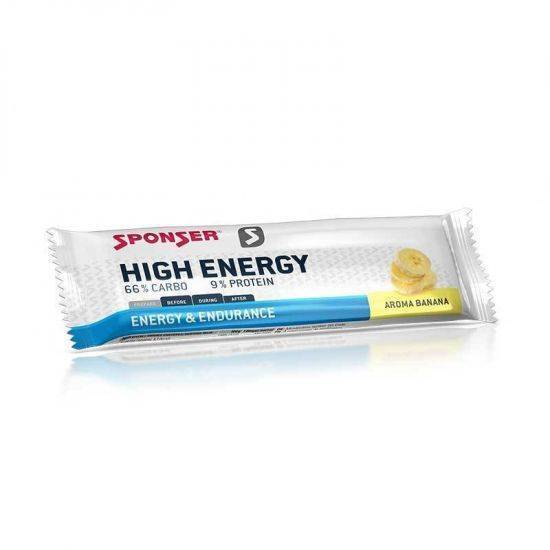 Sponser - Energiaszelet HIGH ENERGY -  45g - Banán